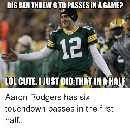 "WATCH:  Aaron ""Frickin"" Rodgers Throw 6 TD Passes in One Half"