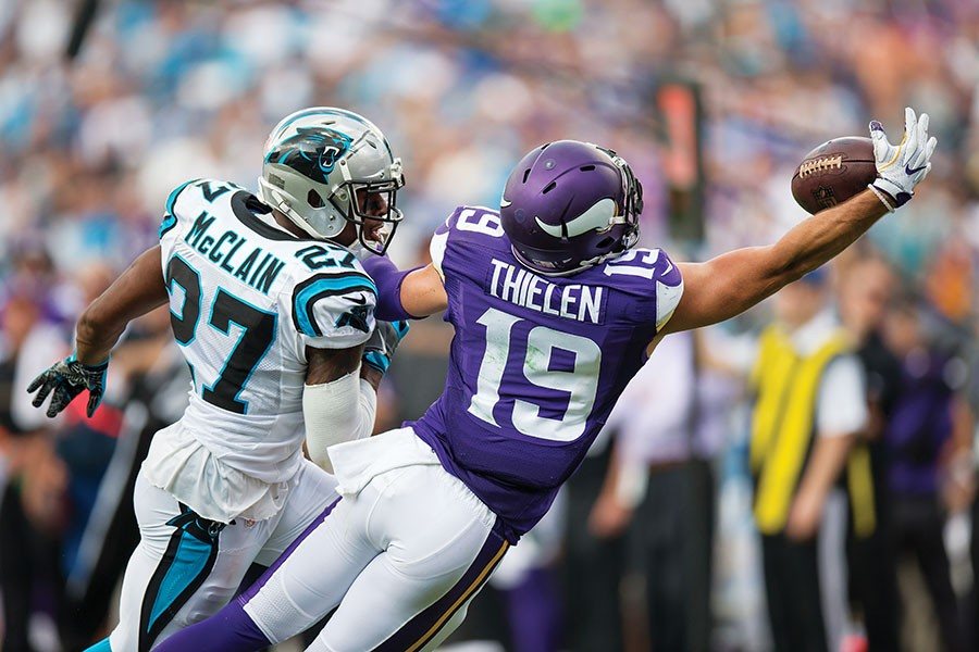 2020-21 NFL Computer Predictions and Rankings Player News  worth vikings thielen looking